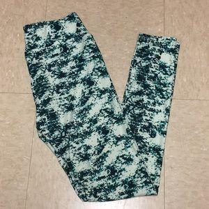 Green Patterned LuLaRoe Leggings
